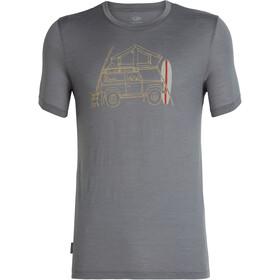 Icebreaker Tech Lite Surfspot Camper t-shirt Heren, timberwolf